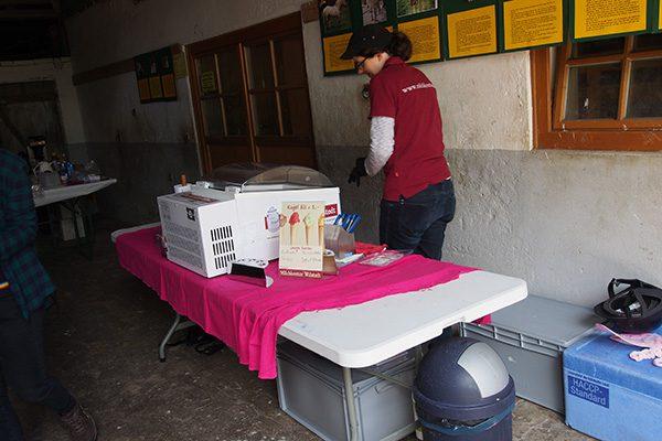 Die mobile Eisvitrine vom Milchkontor Wilstedt...